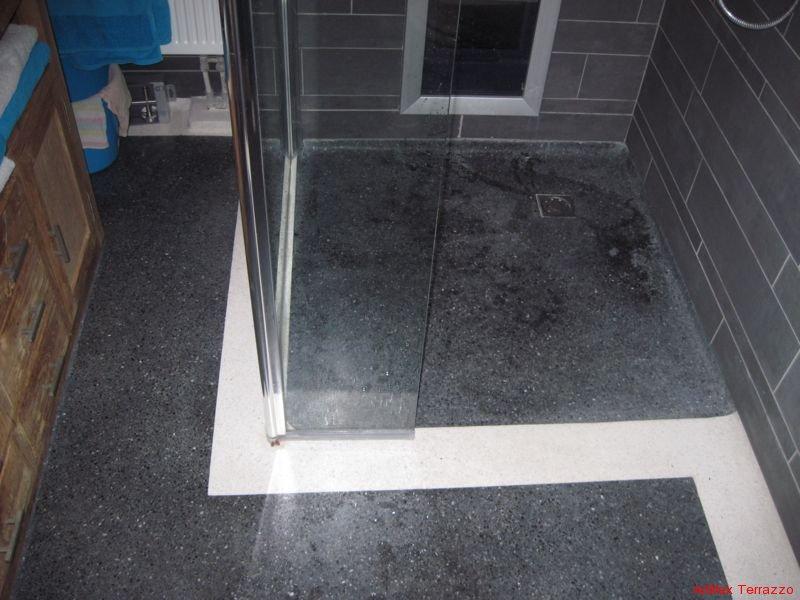 Design Badkamer Weert ~ Terrazzo vloer badkamer en douche  badkamer