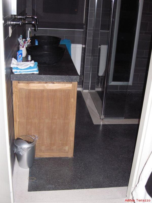 Design Badkamer Weert ~ Terrazzo vloer badkamer