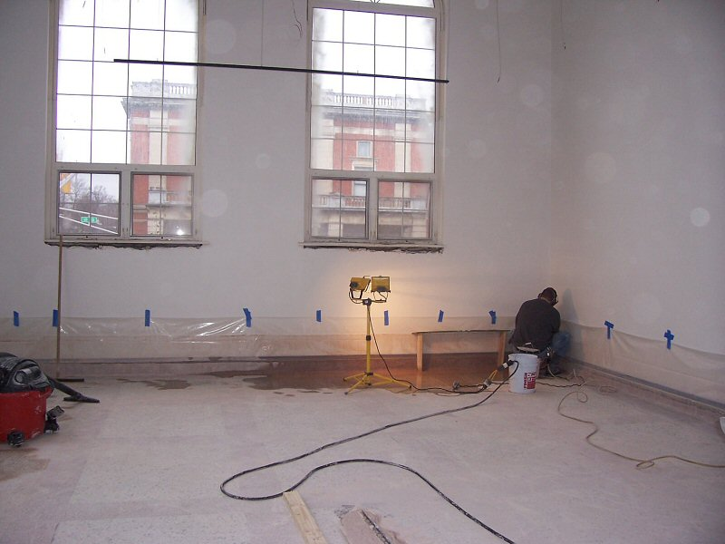 Het maken van een terrazzo vloer