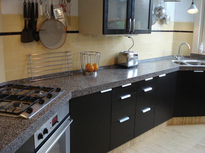 terrazzo aanrechtblad in keuken
